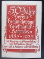 Postkarte Propaganda Briefmarken Braunschweig 1935 - Briefe U. Dokumente