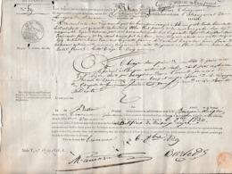 1829 - DOUANES DE FRANCE - BESANÇON - CHAUX NEUVE (Suisse) 3 Chevaux Hongre Hors D'age, Aveugle... - Documenti Storici