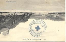 29-cachet Hôpital-Filiale De Douarnenez -Croix -rouge (HB N°11 Bis-Atelier De Broderie De Mme Pierre) Sur CP En 1914 - WW I