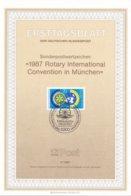 Duitsland - ETB 17/1987 - Weltkongress Des Internationlen Rotary-Clubs, München - M 17/1987 - 1327 - [7] West-Duitsland