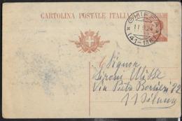 STORIA POSTALE REGNO - ANNULLO FRAZIONARIO DC -  GHIFFA/(41-118) 11.09.1924 SU INTERO MICHETTI - 1900-44 Victor Emmanuel III.