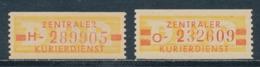 DDR Dienstmarken B 18/19 ** Nachdrucke Mi. 37,- - DDR
