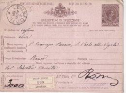 ITALIE 1888     ENTIER POSTAL/GANZSACHE/POSTAL STATIONERY  COLIS POSTAL DE LEONFORTE - 1878-00 Humbert I.