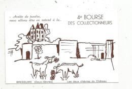 Cp, Bourses & Salons De Collections, 4 E BOURSE DE COLLECTIONNEURS , 79 , BRESSUIRE ,1982,illustrateur C.Massiot - Bourses & Salons De Collections