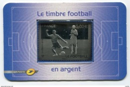 RC 13760 FRANCE N° 430 LE FOOTBALL 5€ EN ARGENT NEUF ** A LA FACIALE - Soccer