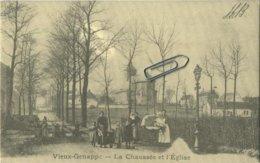 Vieux Genappe : La Chaussée  Et L'église     (  Verso  élections )    (  2 Scans ) - Genappe