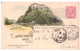 ALBERTA - MOUNT STEPHEN HOUSE - CARTE 1904 De LA CANADIAN PACIFIC RAILWAY COMPANY ENTIER POSTAL SUR COMMANDE - Alberta