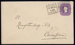 1889, Chile, U 8 B, Brief - Chile