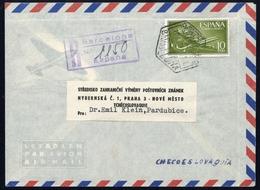 1956, Spanien, 1078, Brief - Spanien