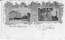 1 Ansichtkaart 1902 - Groet Uit Valkenburg - Grand Hotel Ubaghs-Vossen - Ruïne - Valkenburg