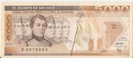 5000 PESOS  ( 1989 ) - Mexico