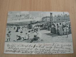CP 70/ ESPAGNE SAN SEBASTIAN / LA PLAYA DE BANOS / CARTE VOYAGEE - Guipúzcoa (San Sebastián)