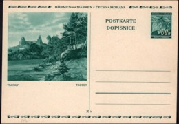 Germany 1939 - Protectorate Of Bohemia And Moravia. 60h. Illustrated Stationery (Mi. P6) TROSKY, Czechoslovakia. - Deutschland