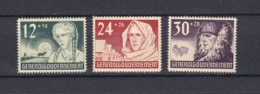 Generalgouverment - 1940 -  Michel Nr. 56/58 - Postfrisch - Ocupación 1938 – 45