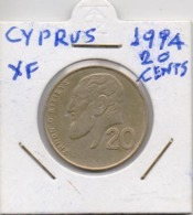 CYPRUS COIN  20 CENTS-1994-USED AS SCAN(Kbx2) - Zypern