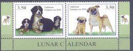 2018. Tajikistan, Lunar Calendar, The Year Of Dog, 2v Perforated, Mint/** - Tadschikistan