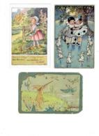 Lot 3 Cpa Illustration Chasse Au Canard Lapin Fusil M. ALYS Chaumière Fillette Pierrot Colombine RONDE FLORENCE HARDY - Illustrateurs & Photographes