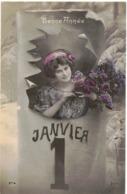FANTAISIE FEMME FRAU LADY WROUV ILLUSTREE POLO N° 574   BONNE ANNEE 1er JANVIER Circulé Vers NARBONNE - New Year