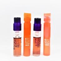 4  échantillons Parfum Tubes THIERRY MUGLER  ALIEN   EDP EDT   Luminescente Sunessence - Echantillons (tubes Sur Carte)
