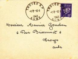 FRANCE - 1942 - Lettre De Troyes Pour Troyes - Francia