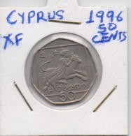 CYPRUS COIN  50 CENTS-1996-USED AS SCAN(Kbx2) - Zypern