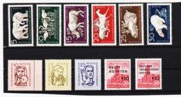 YZO763 DDR LOT 1956 MICHL Nr. 548/58 ** Postfrisch ZÄHNUNG SIEHE ABBILDUNG - DDR