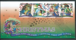 Pitcairn Islands 2000 Christmas Strip Of 4 On  FDC Official Unaddressed - Stamps