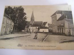 C.P.A.- Puiseaux (45) - L'Entrée Par La Route De Montargis - Maison Berthier - 1910 - SUP (CT 54) - Puiseaux
