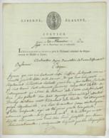 LAS Accusateur Public Près Le Tribunal Criminel Du Maine-et-Loire à Angers Pour Jury D'accusation De Saumur . 1799 . - Autographes