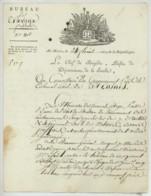 LS Louis-Marie Auvray Premier Préfet De La Sarthe Et Futur Général De La Restauration . Le Mans 1800 . Travaux Publics . - Autographes
