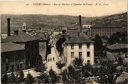 CPA COURS Rue De MARDORE Et Quartier Du Centre (443580) - Cours-la-Ville