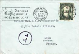 SUISSE : 1943 - Donnez Pour Le Noêl Du Soldat Sur Lettre Pour La France - Suisse
