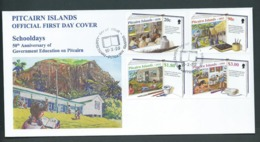 Pitcairn Islands 1999 Education Anniversary Set Of 4 On FDC Official Unaddressed - Stamps