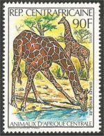 234 Centrafrique Girafe Giraffe MNH ** Neuf SC (CAF-44) - Giraffe