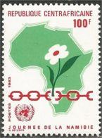 234 Centrafrique Carte Afrique Africa Map MNH ** Neuf SC (CAF-45) - Aardrijkskunde
