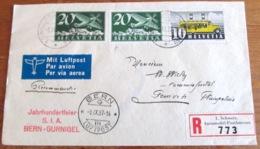 Schweiz Suisse 1937: FDC Zu 210+F4+4z Mi 311+213y+213z Yv 302+PA4  O 1.AUTOMOBIL-POSTBUREAU SIA BERN-GURNIGEL 6.IX.1937 - FDC