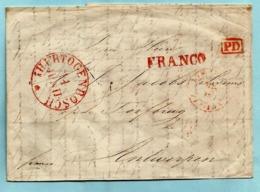 Brief Met Inhoud, Afst. 'S HERTOGENBOSCH 11/06/1843 + FRANCO + PD + PAYS-BAS / PAR ANVERS Naar Antwerpen - ...-1852 Préphilatélie