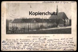 ALTE POSTKARTE ST. MARIENSTERN KLOSTER VON DER OSTSEITE PANSCHWITZ-KUCKAU 1901 Abbey Cloitre Ansichtskarte Postcard Cpa - Panschwitz-Kuckau