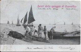 1907 - Saluti Dalla Spiaggia Di Cesenatico - Autres Villes