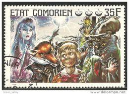 270 Comores Pinocchio Renard Fox Fuchs (COM-59) - Comores (1950-1975)