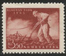 282 Croatia Labour Plow Plough (CRO-18) - Agriculture