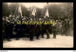 GUERRE 14-18 - REMISE DES DECORATIONS A BOIS-COLOMBES (HAUTS DE SEINE) - CARTE PHOTO ORIGINALE - War 1914-18