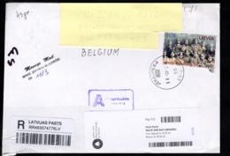Recommandé Envoyé Vers La Belgique - Lettonie