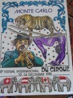 Circus Cirque Circo Moanco Monte Carlo Festival - Publicité