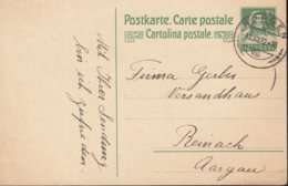 SCHWEIZ  MiNr. P 82 I, ZNr. 72 Mit Stempel: Horgen 12.XII.1922 - Enteros Postales