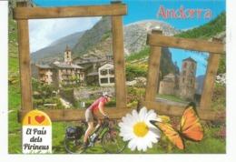 Andorra El Pais Dels Pireneus. Le Pays Du Cyclisme. Nouvelle Carte Postale Neuve, Non Circulée. - Andorra