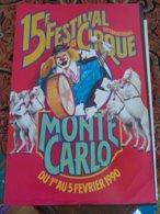 Circus Cirque Circo Monaco Monte Carlo Festival - Publicité