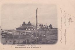 CPA :  Pnompenh (Cambodge) Bateau Bain Des Femmes De Norodom 1er  Ed Leblanc 15 Cachet Koleo Sur 5c YT 17 - Cambodge