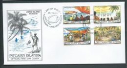 Pitcairn Islands 1995 Oeno Island Holiday Set Of 4 On FDC Official Unaddressed - Stamps