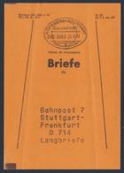 Deutschland Germany 1977 Beutelfahnen - Bahnpost 7 Stuttgart - Frankfurt D 714 Langbriefe - Treinen